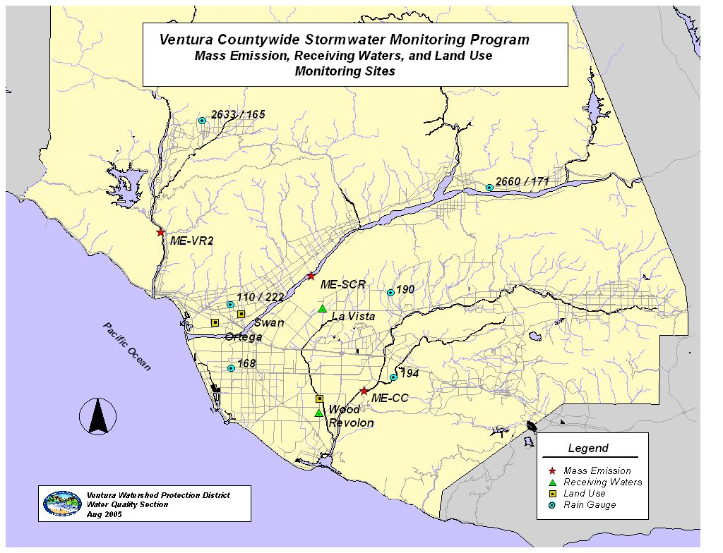 Ventura County Stormwater Management - Us waters map